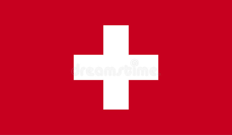 瑞士旗子图象 向量例证
