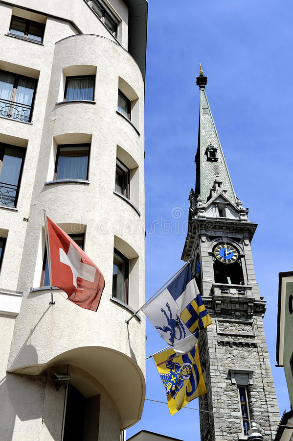 瑞士标志 免版税库存照片
