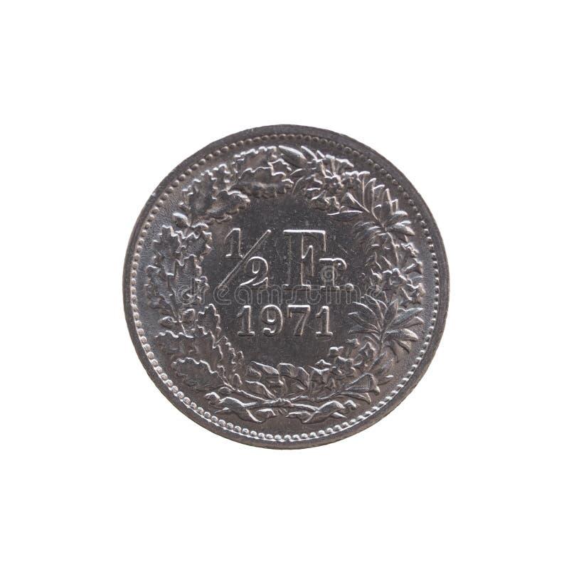 瑞士法郎硬币 免版税库存照片
