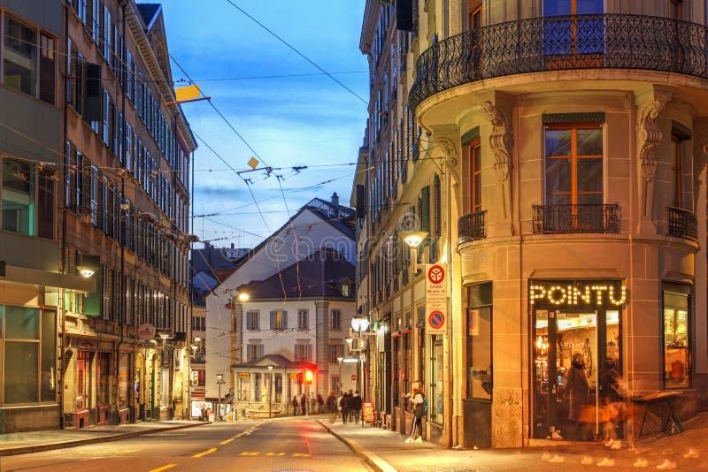 瑞士洛桑街景 免版税库存图片