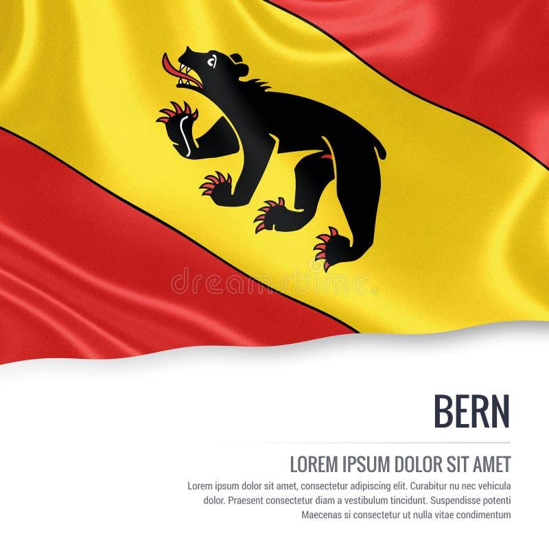 瑞士状态伯尔尼旗子 向量例证