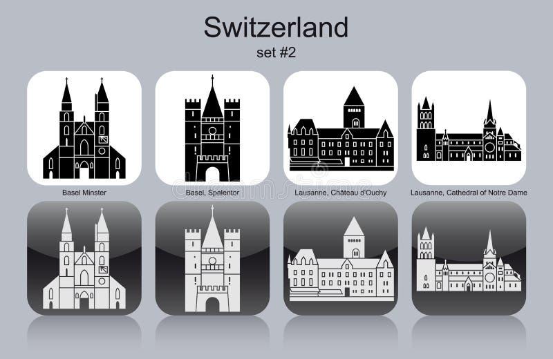 瑞士的象 库存例证