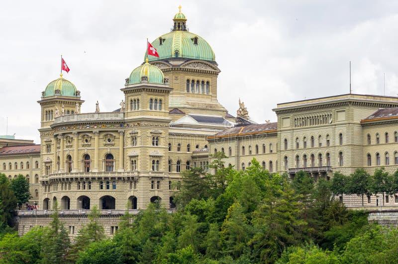瑞士议会。 伯尔尼,瑞士 库存图片