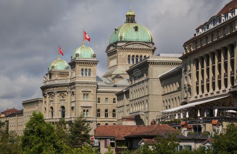 瑞士议会 伯尔尼,瑞士 库存图片