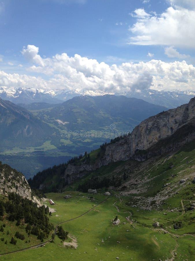 瑞士阿尔卑斯在夏天 免版税库存照片