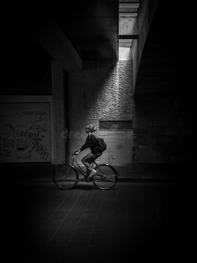 瑞士骑自行车者 免版税库存图片