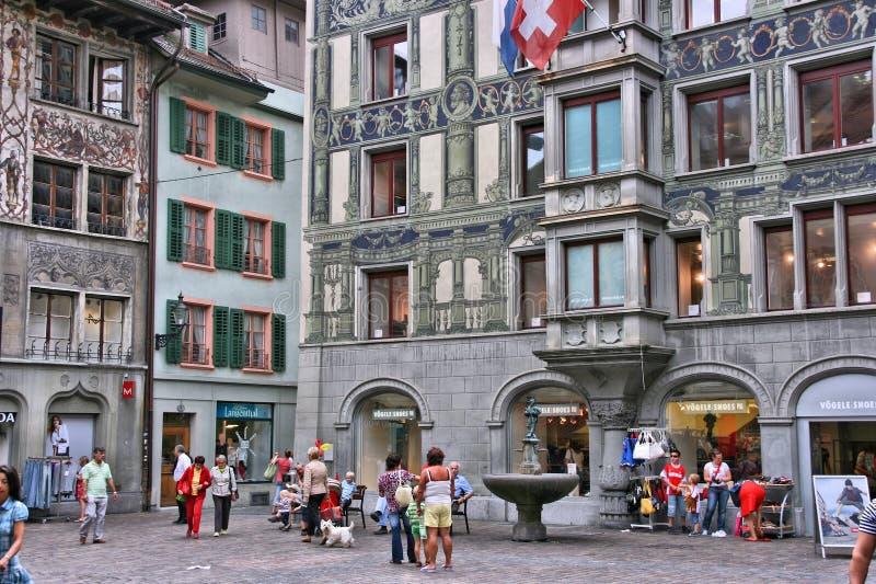 瑞士-卢赛恩 库存图片