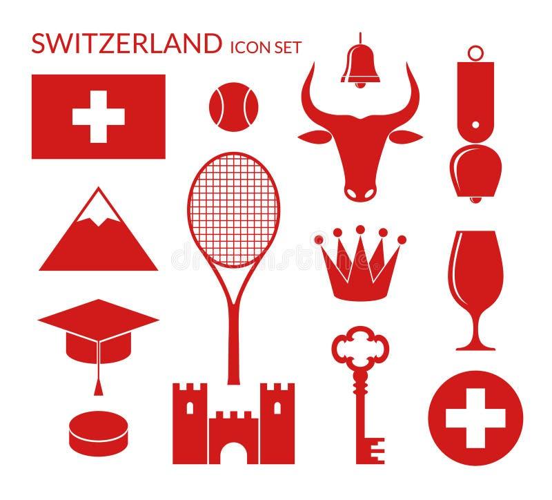 瑞士 象集合 向量例证