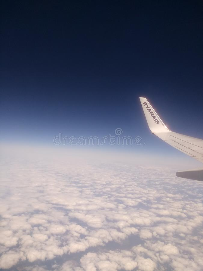 瑞安航空公司 免版税图库摄影