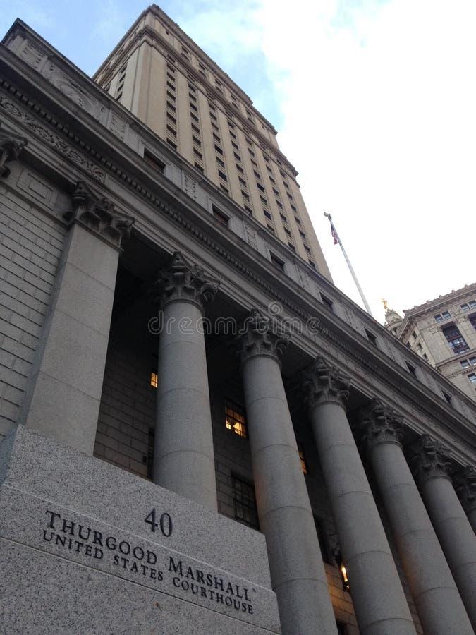 瑟古德・马歇尔美国法院大楼在曼哈顿 免版税库存照片