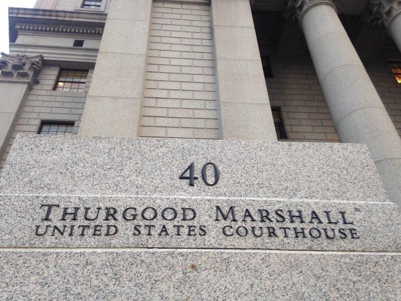 瑟古德・马歇尔美国法院大楼在曼哈顿 图库摄影