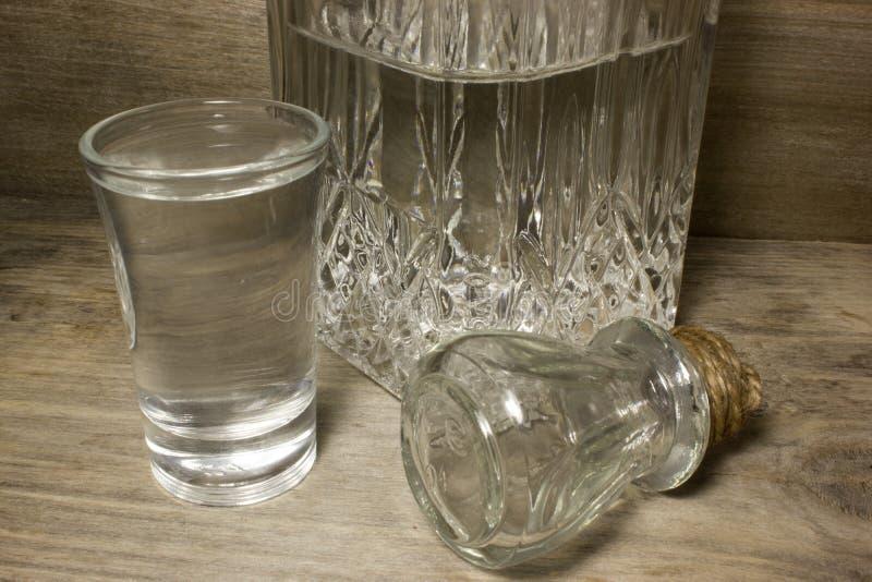 玻璃伏特加酒 图库摄影