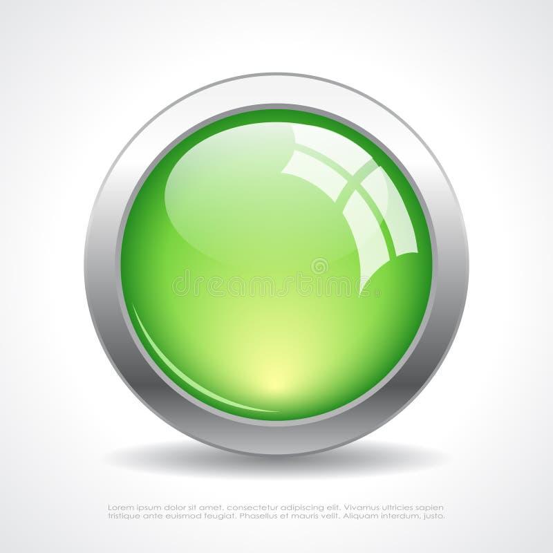 玻璃传染媒介网按钮 皇族释放例证