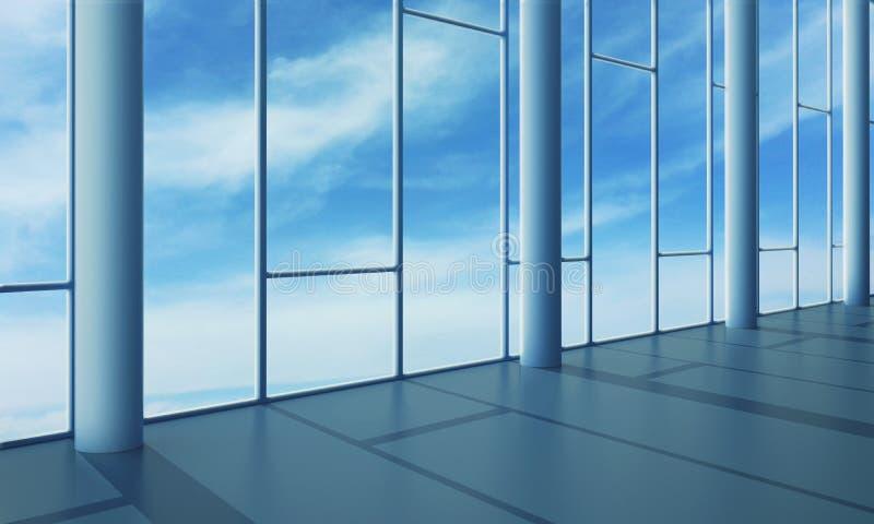 玻璃内部办公室墙壁 库存图片