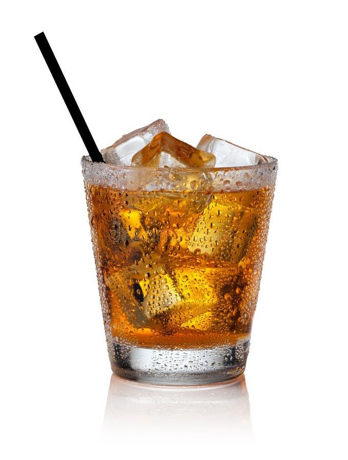 玻璃冰苏格兰威士忌酒 库存照片