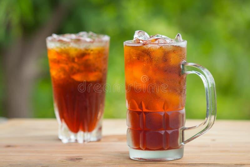 玻璃冰茶 库存图片