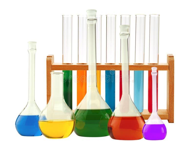 玻璃器皿空白查出的实验室试验的管 实验室玻璃器皿 免版税库存图片