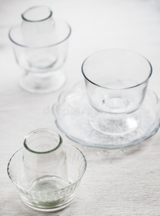 玻璃器皿 库存照片