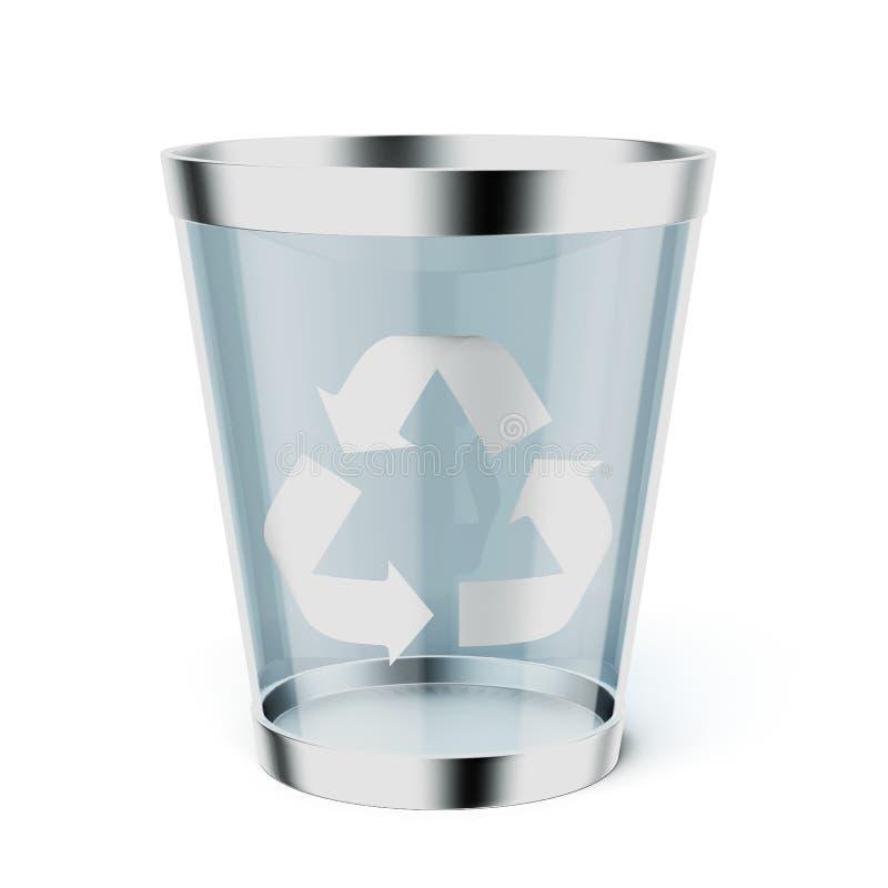 玻璃回收垃圾箱 向量例证