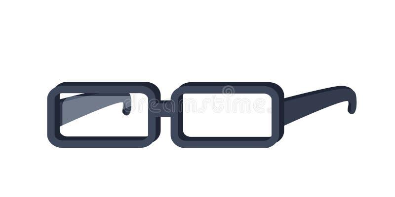 玻璃在平的设计的传染媒介例证 向量例证