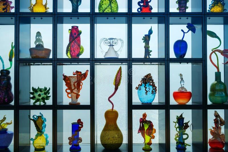 玻璃威尼斯式墙壁博物馆  免版税库存照片