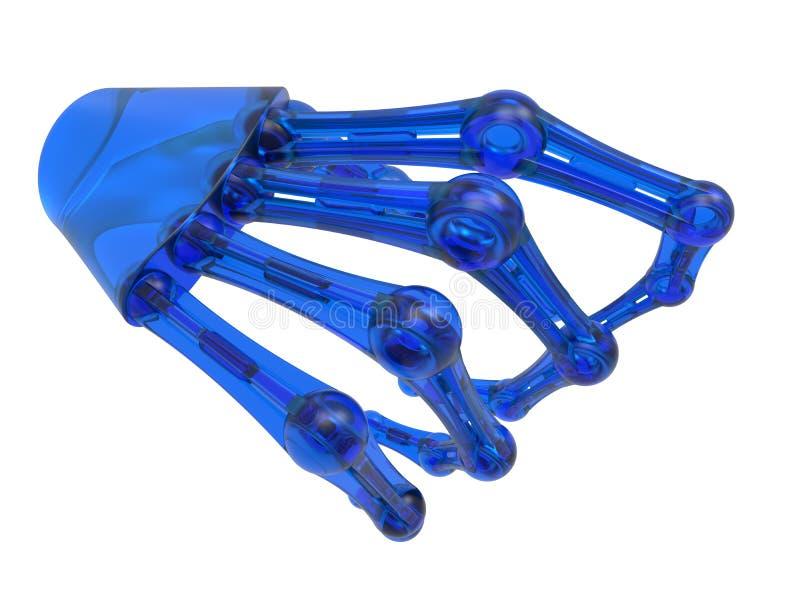 玻璃机器人胳膊 皇族释放例证