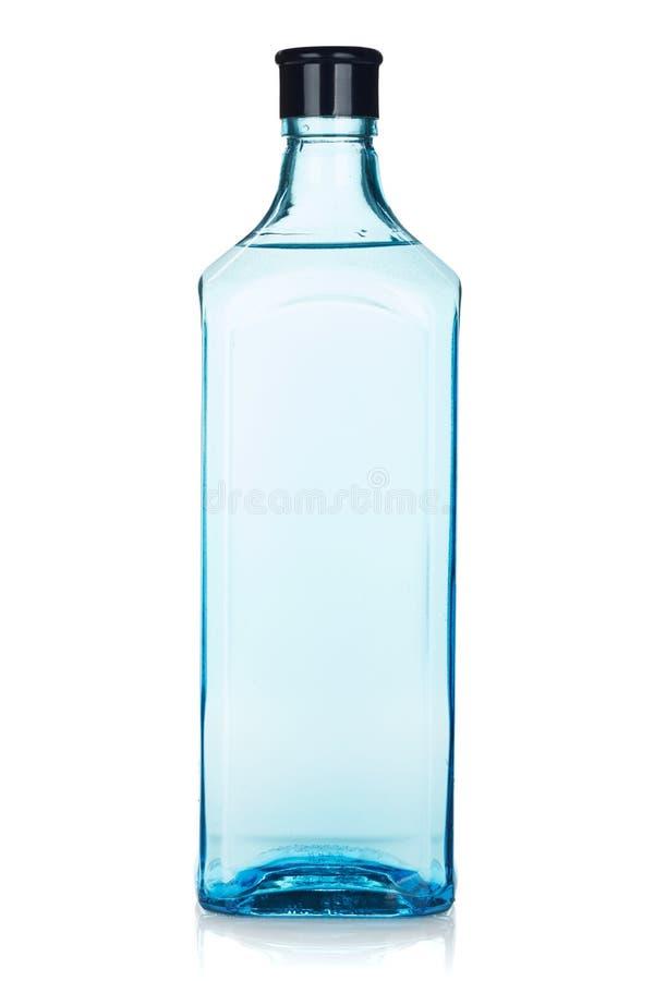 玻璃杜松子酒瓶 库存图片