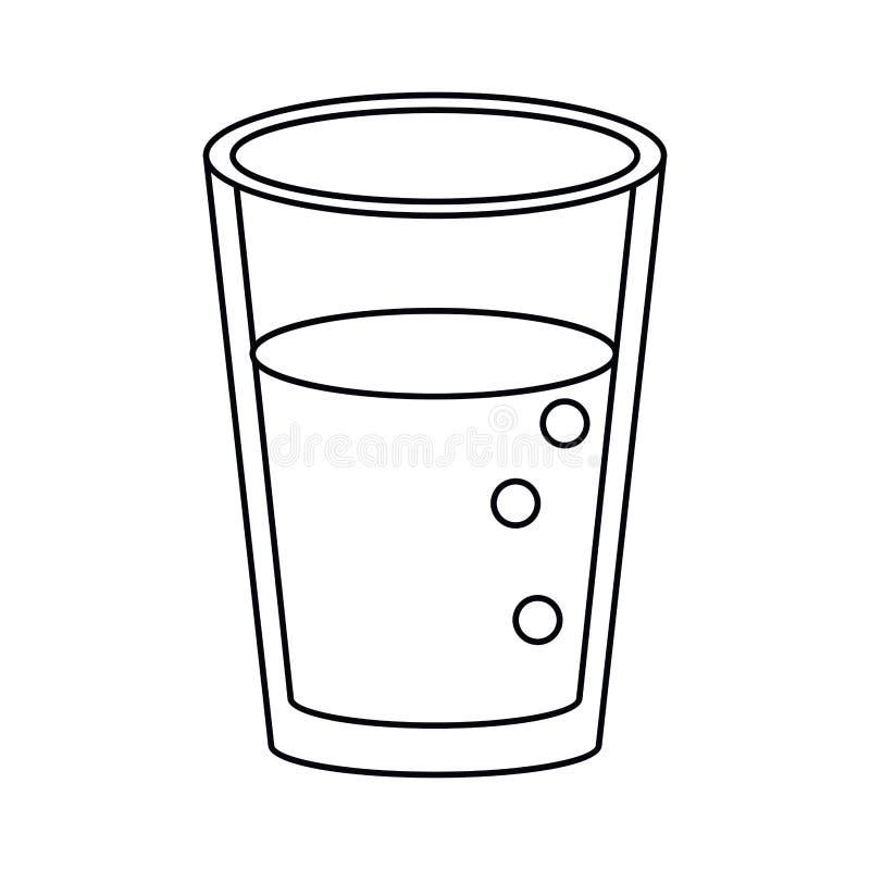 玻璃杯子汁液自然变薄线 向量例证