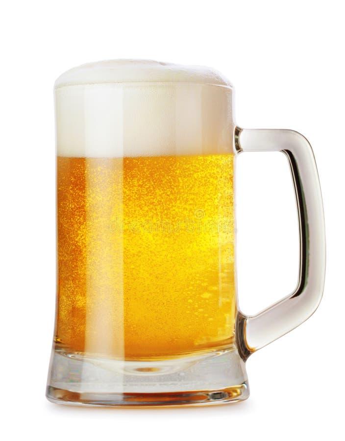 玻璃杯子用啤酒 免版税库存图片
