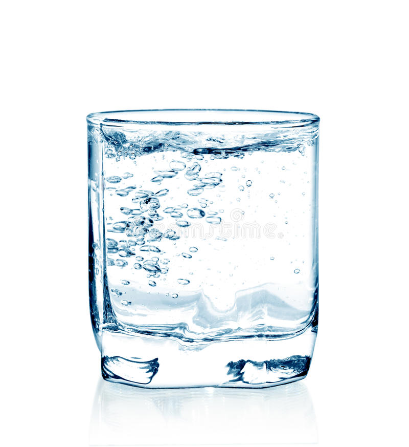 玻璃查出的水 免版税库存照片