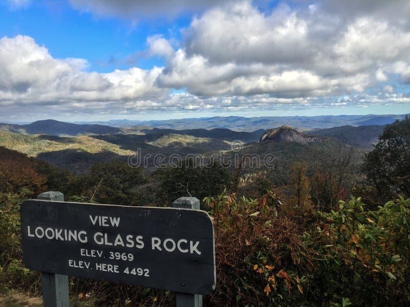 玻璃查找的岩石 免版税库存照片