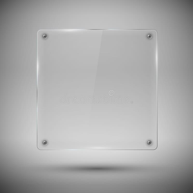 玻璃框架。传染媒介例证。 向量例证