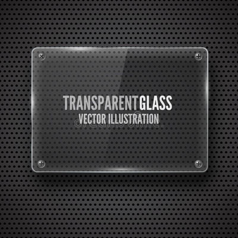 玻璃框架。传染媒介例证。 库存例证
