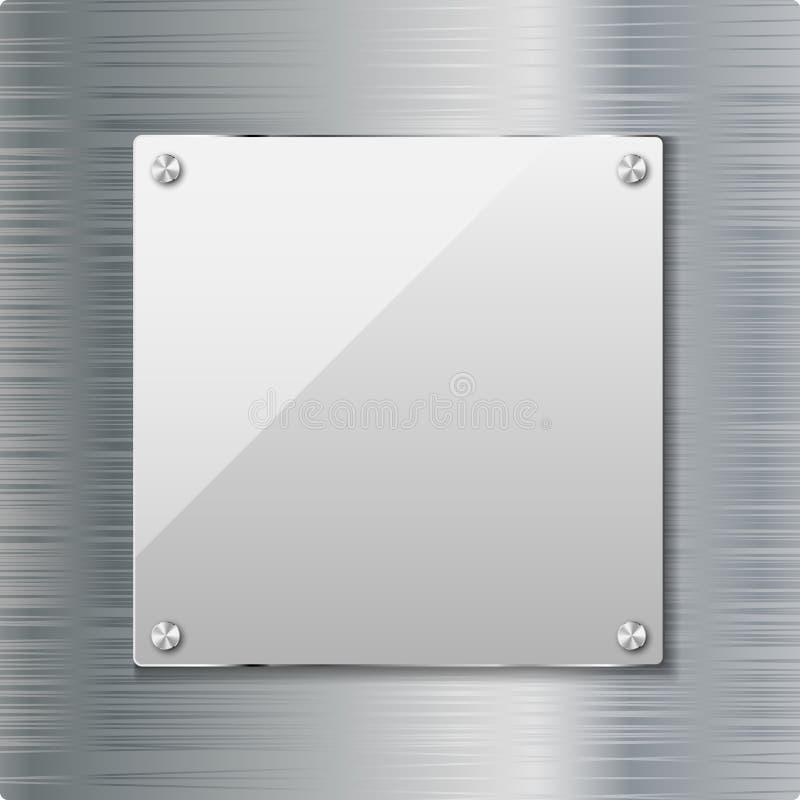 玻璃框架 皇族释放例证