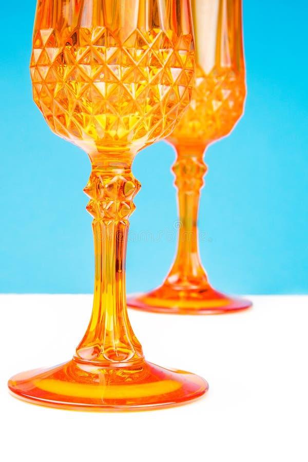 玻璃桔子 图库摄影