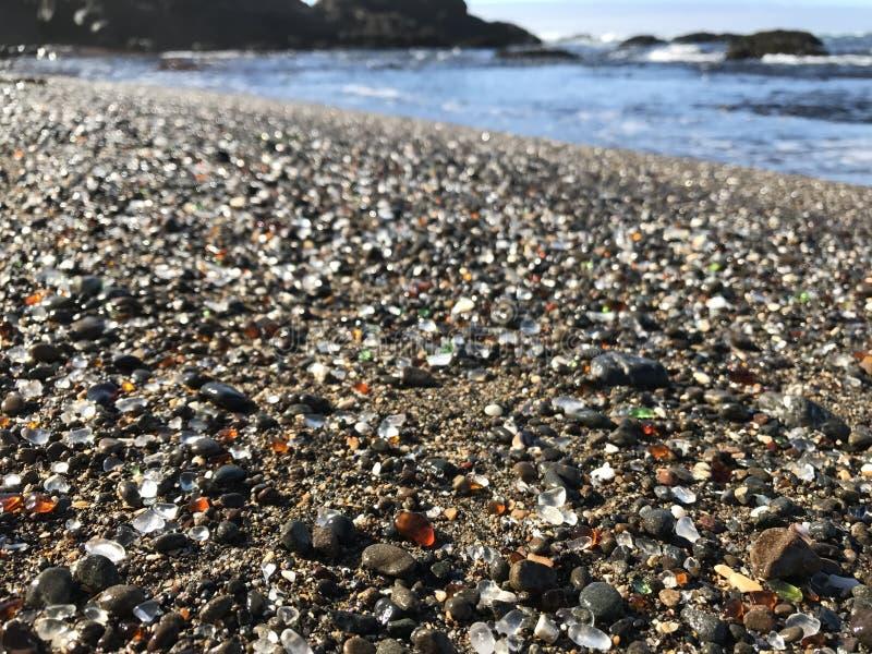 玻璃海滩 库存照片
