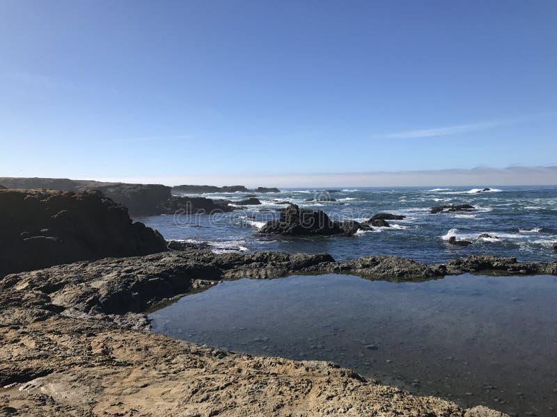 玻璃海滩 免版税图库摄影