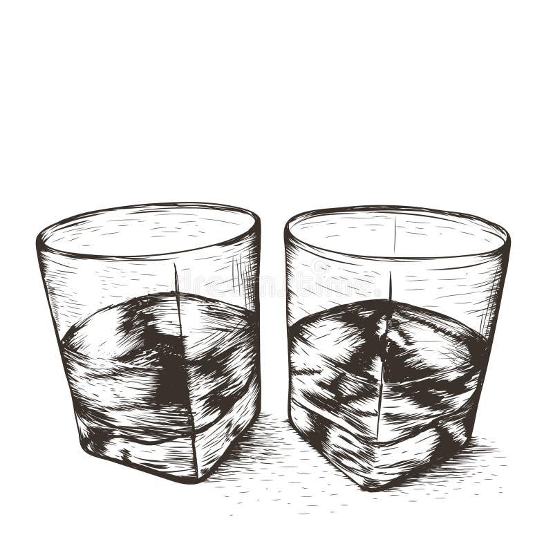 玻璃液体二 皇族释放例证