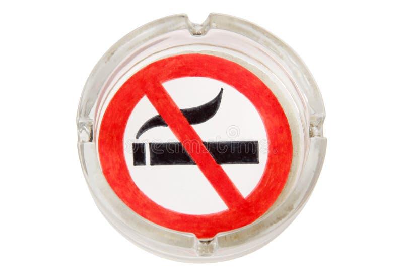 玻璃烟灰缸的标志 库存图片