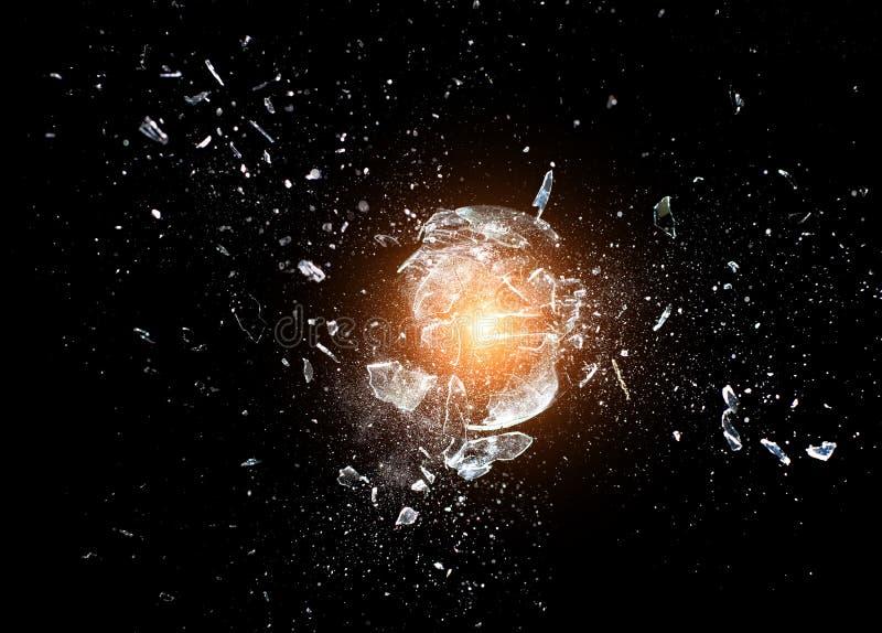 玻璃爆炸 免版税库存照片