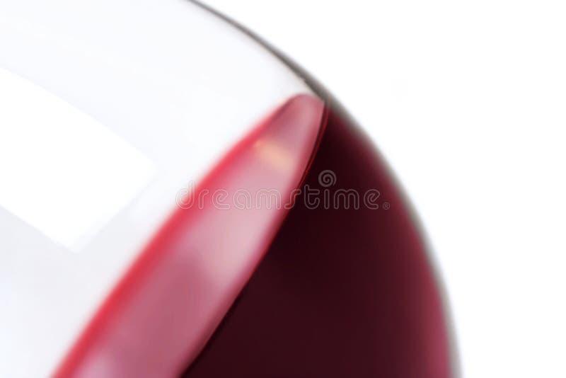 玻璃特写镜头用红葡萄酒 图库摄影