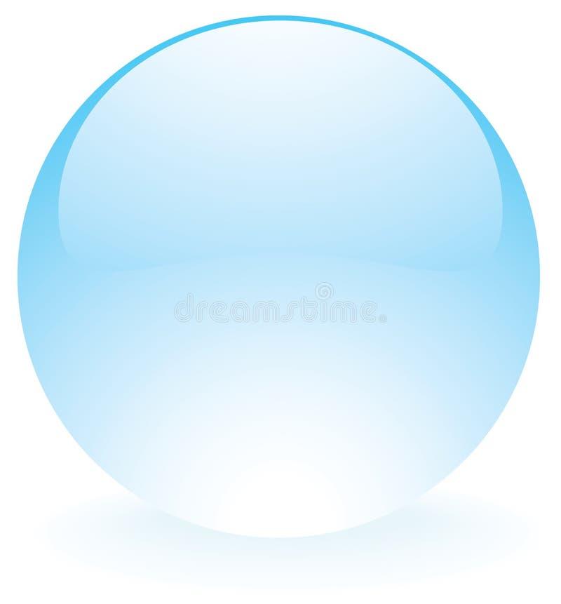 玻璃球形蓝色 皇族释放例证