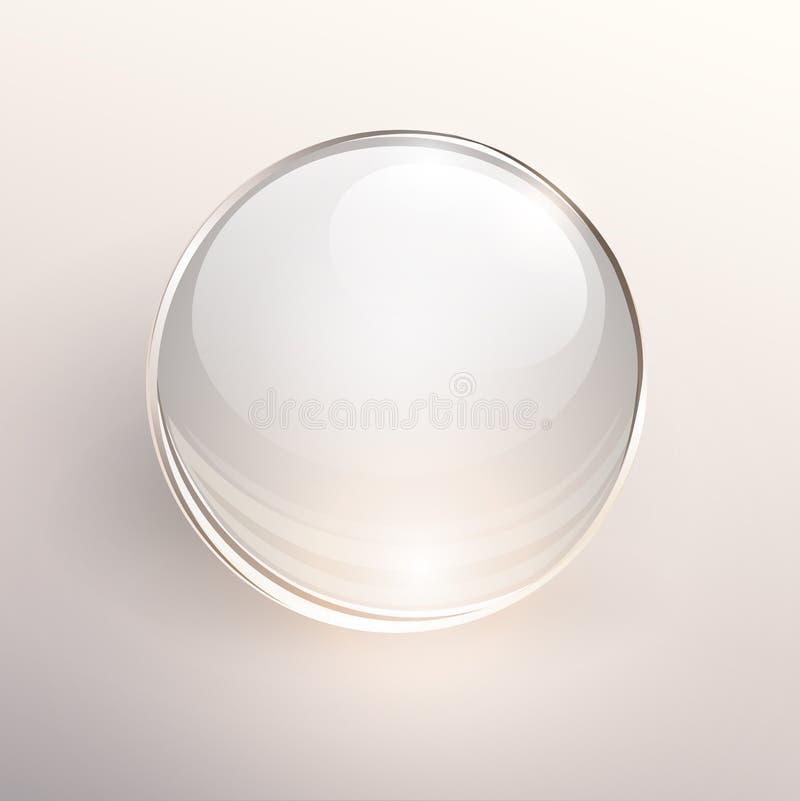 玻璃球背景 向量例证