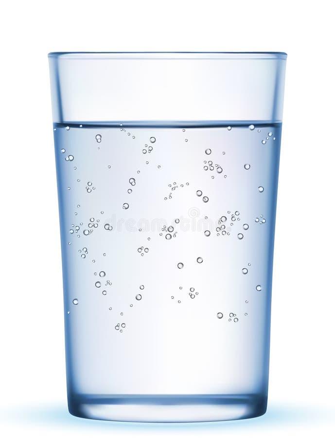 玻璃瓶冰矿物薄菏晃动水 库存例证