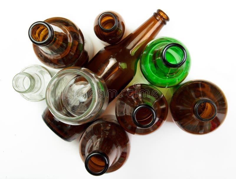 玻璃瓶和瓶子回收的 免版税图库摄影