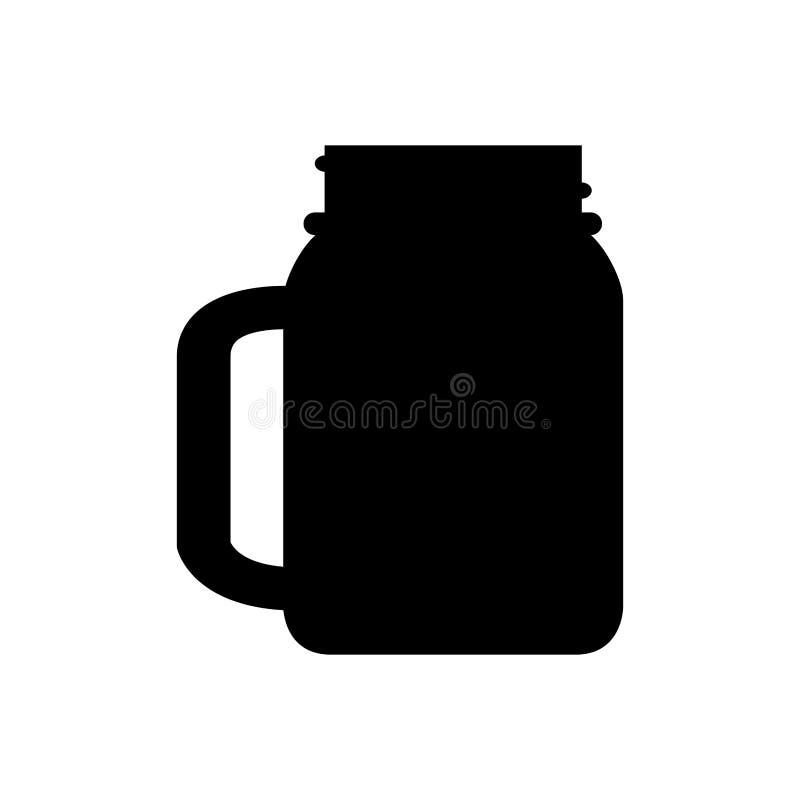玻璃瓶子剪影 皇族释放例证
