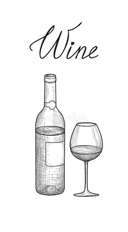玻璃瓶设置了七六白葡萄酒 半满的酒杯,瓶,在上写字 咖啡馆菜单 wi图片