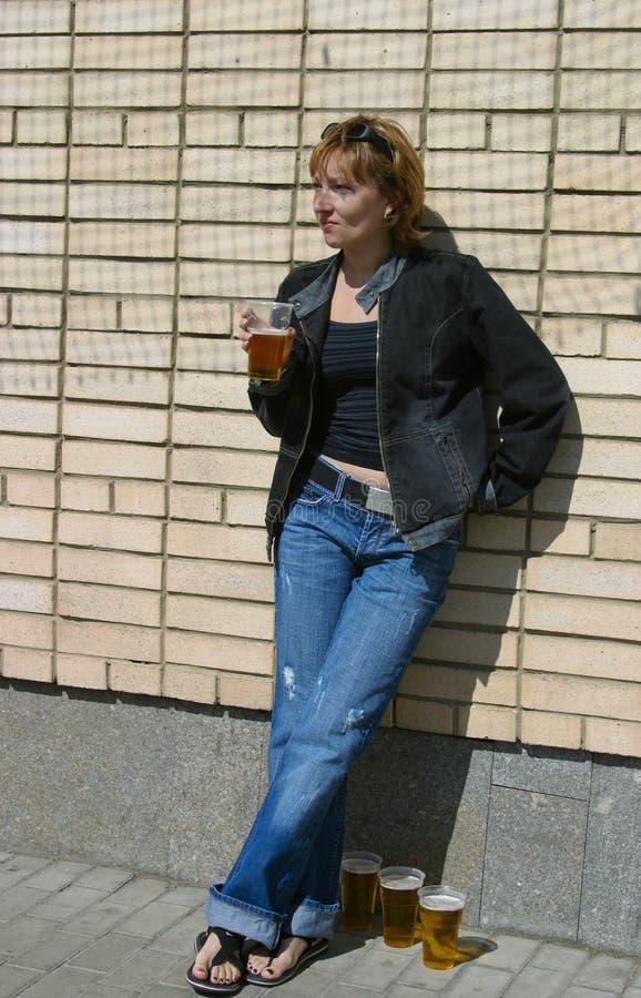 玻璃用啤酒 免版税图库摄影