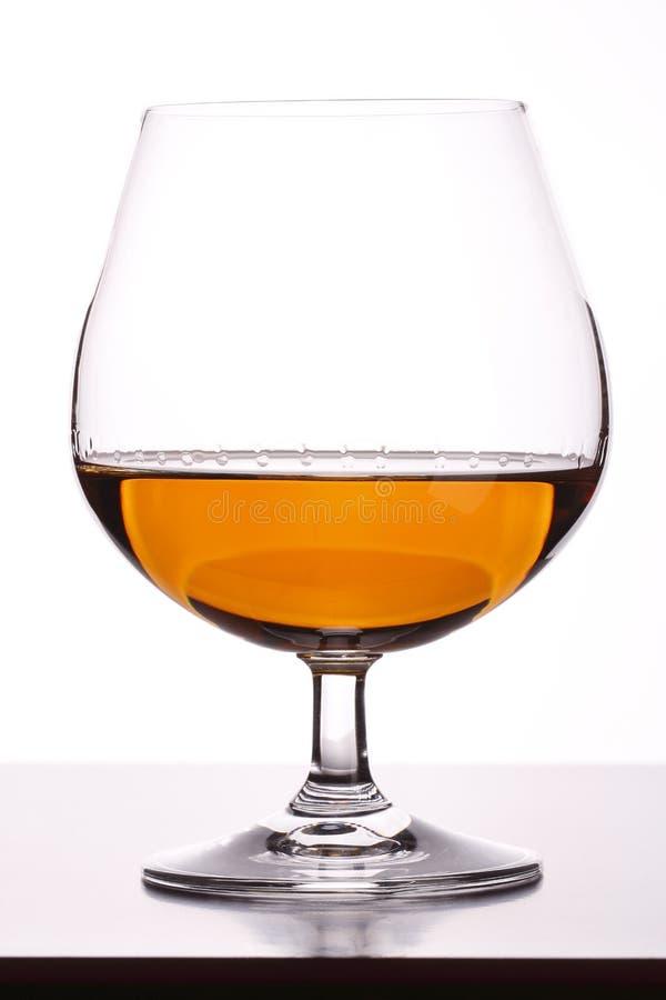 玻璃用白兰地酒 免版税库存图片