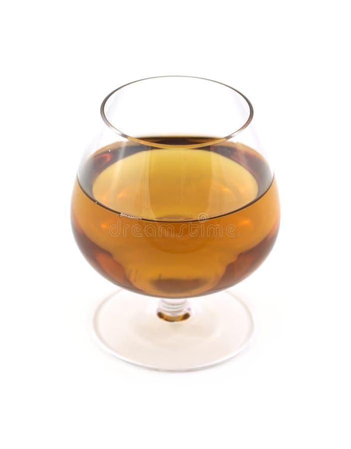 玻璃用在白色隔绝的酒 库存照片